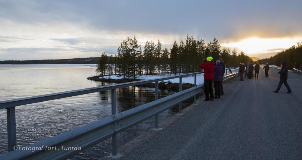 Sonja Kuoljok ledde fredagens fågelskådning. Två havsörnar observerades.