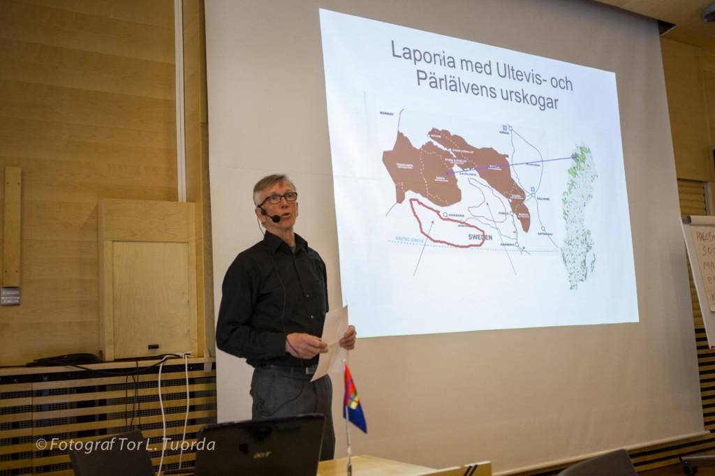 Lars Ture torgför sitt drömscenario om ett långsiktigt skydd av ett urskogskomplex.