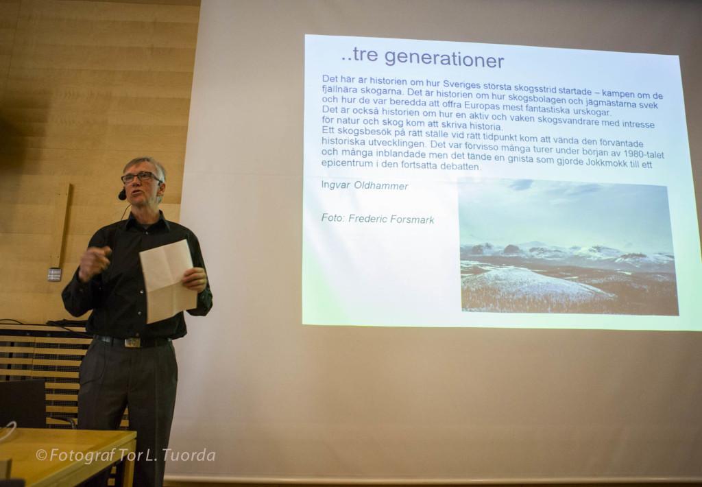 Lars Ture Lindholm berättar om hur Ingvar Segerström 1969 bildade Naturskyddsföreningen i Jokkmokk och om den kamp som drevs för att skydda urskogar och älvar.