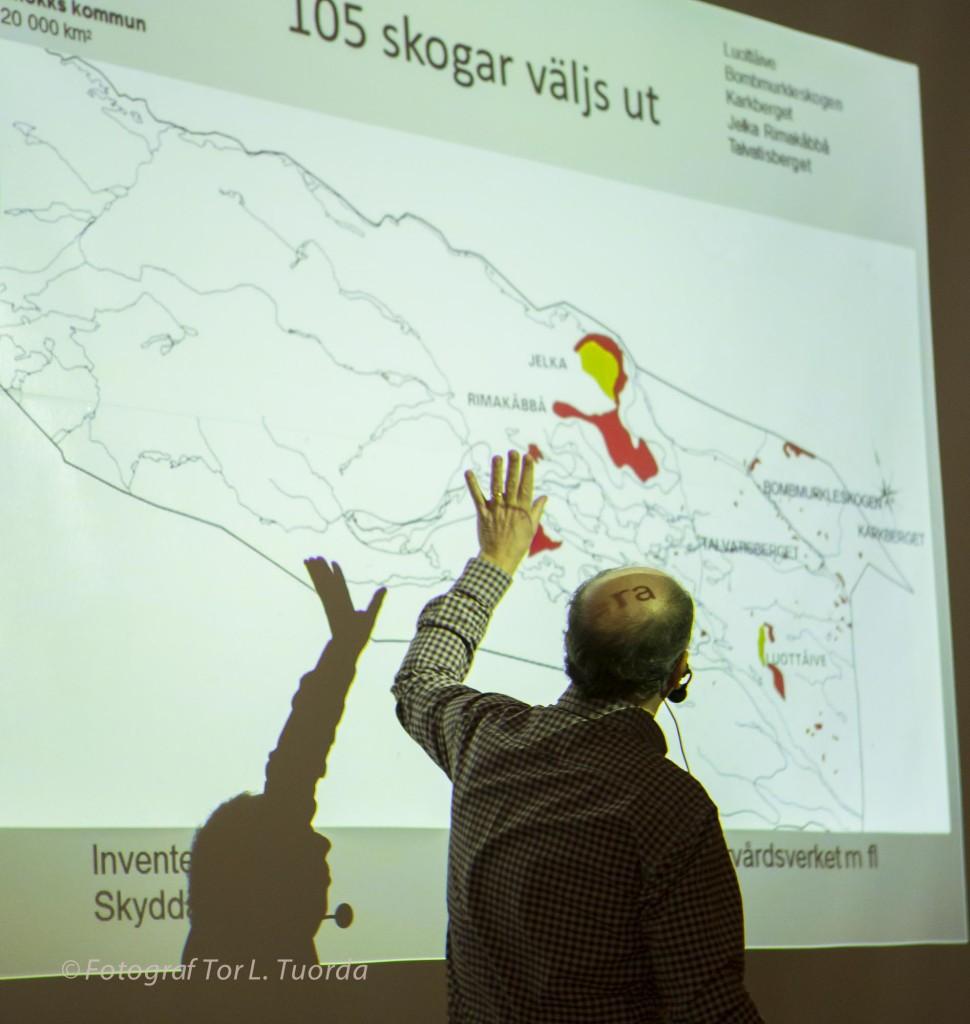 Mats berättar om de första 105 skogar som Steget Före lyckats skydda i Jokkmokks kommun.