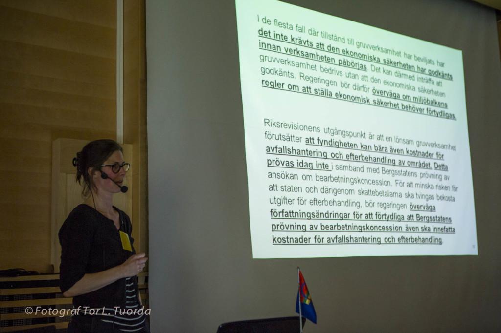 Johanna belyser avsaknaden av svar från regeringen på Riksrevisionens allvarliga kritik om statens gruvhantering.